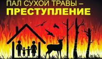 Неконтролируемое сжигание сухой травы и мусора в весенне-летний период приводит к увеличению количества пожаров!